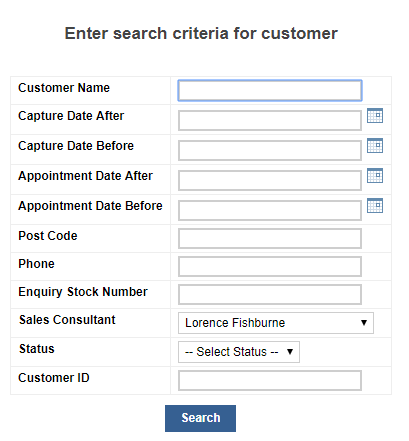 Search a customer
